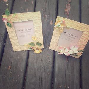 3:$20 2 metal and wood photo frames